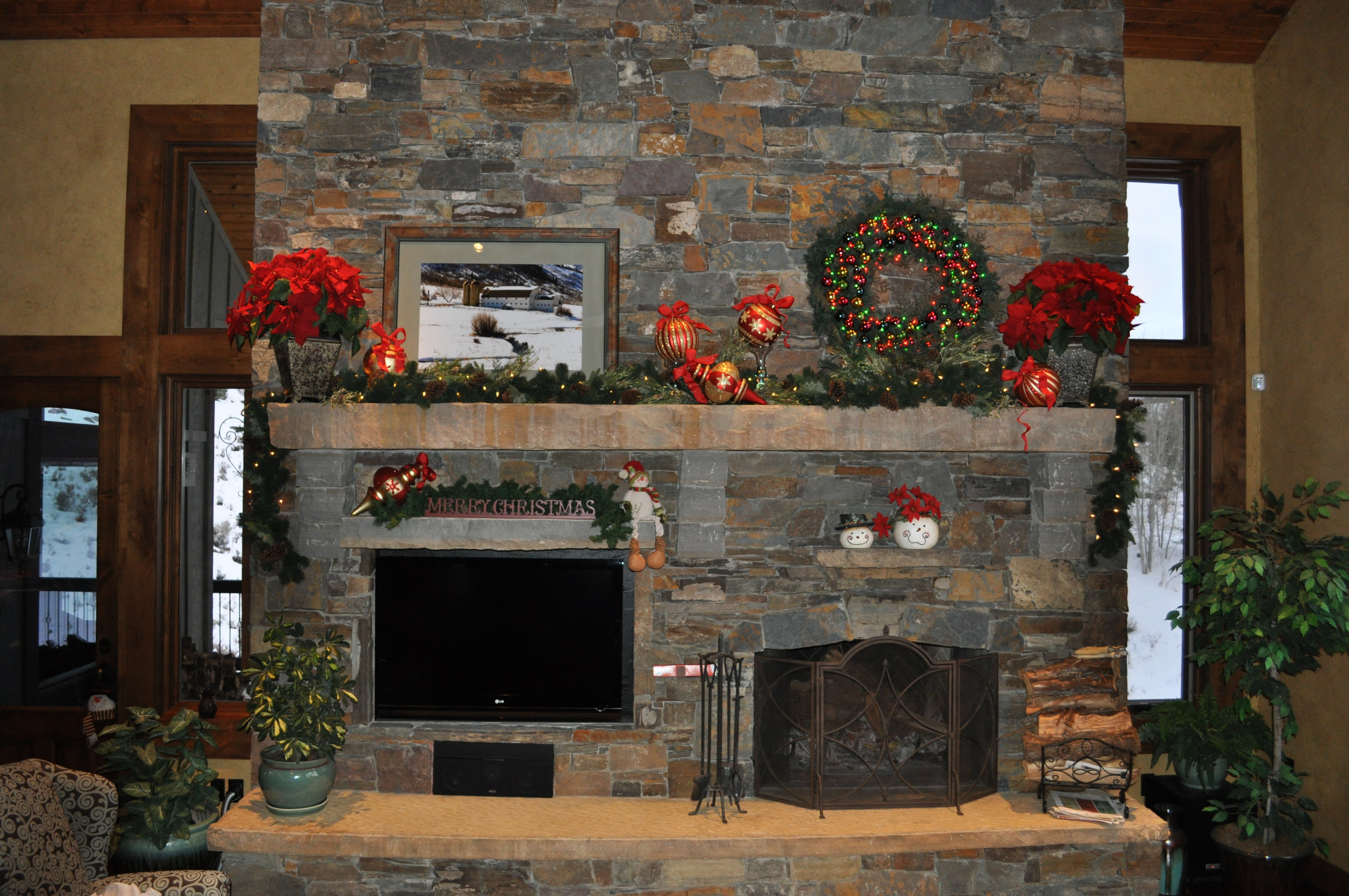 Christmas Fireplace Mantel Celebrating Style At Home