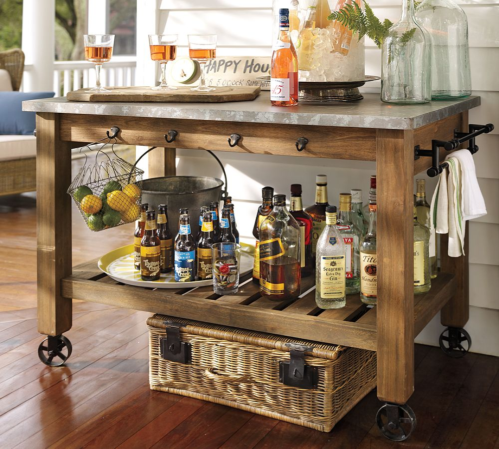 Potting Table With Cabinets