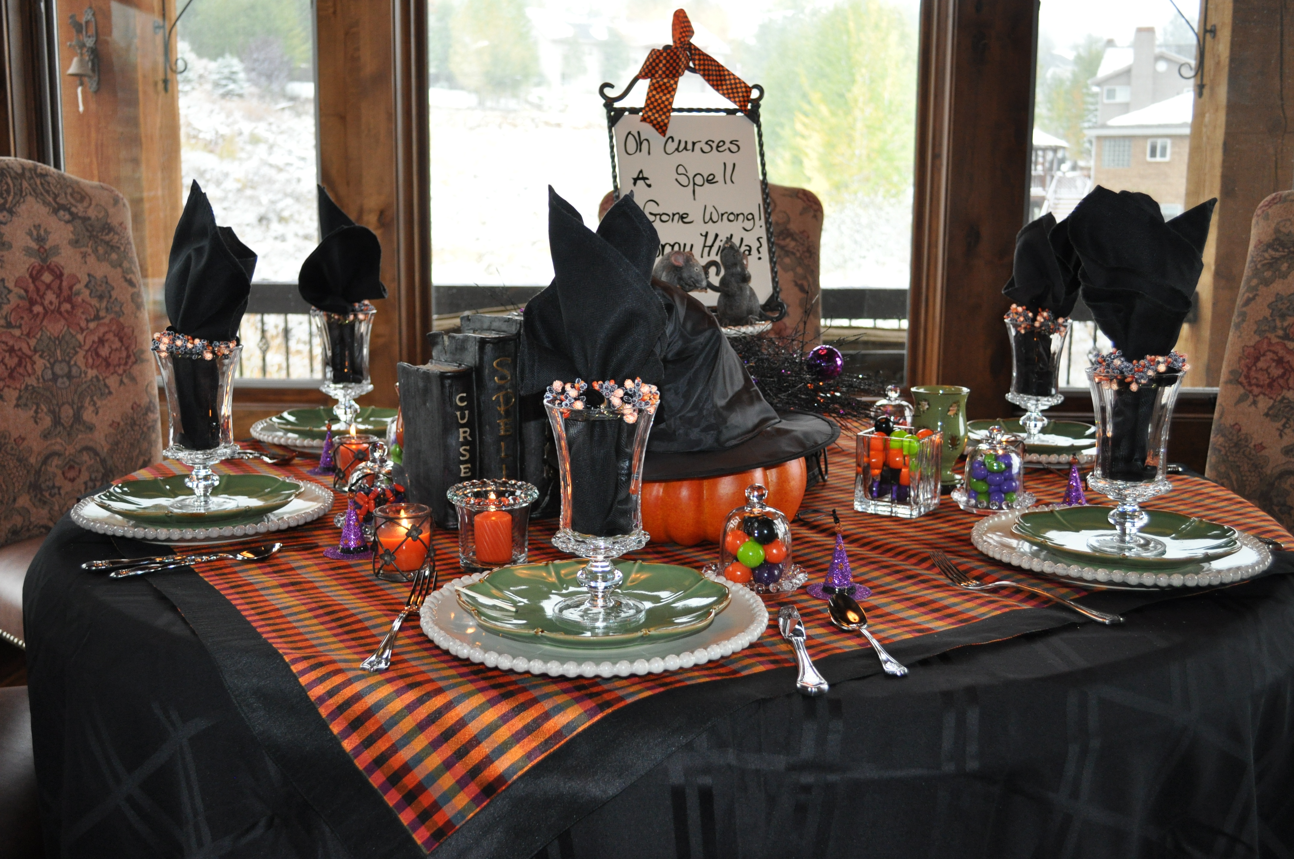 curses and spells a fun halloween tablescapes celebrating style