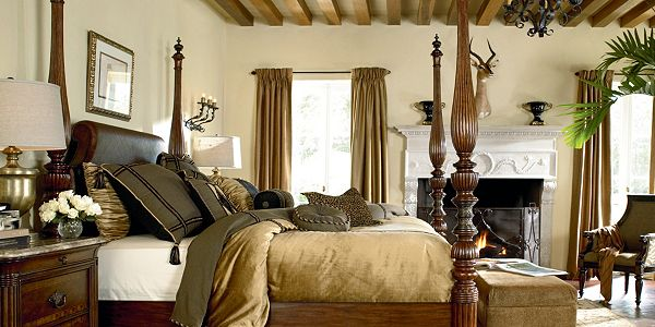 Giddy over a master bedroom redo celebrating style at Ernest hemingway inspired decor